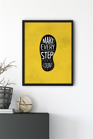 Step Motto Poster Tablo