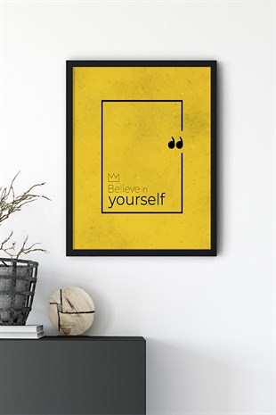 Yourself Motto Poster Tablo